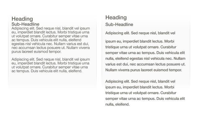 网页文字排版设计的10个小技巧