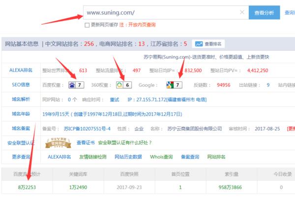 苏宁易购电商网站seo优化经典案例